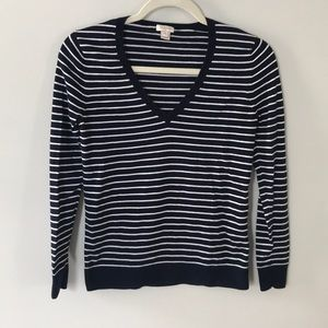 Navy Striped Spring Sweater